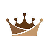Crown icon vector for element design