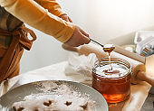 reparing Gingerbread Cookies in Kitchen for December Holidays