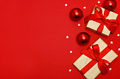 Gift Boxes stock photo banner.Abstract, Backgrounds, Gift card
