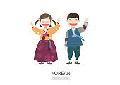 Character in South korea traditional clothes.