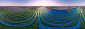 Circular panorama solar panel