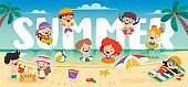 Colorful Flat Summer Banner