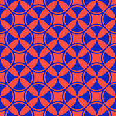 Colorful bright funky geometric seamless pattern with crosses, circles, squares