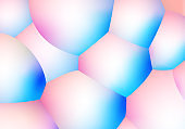 Abstract background with pearlescent soft bubbles balls. Vector illustration