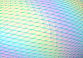 Stylish hologram background in vaporwave 90s style with abstract geometric cells and iridescent colors