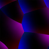 Abstract background with neon glowing dark balls or foam in 80s synthwave style. Vector illustration