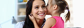 Friendly relationship between mum and kid