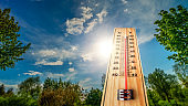 Hot summer day with over 40 degrees on the thermometer