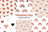 Valentine'™s Day patterns collection