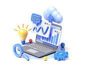 Search result optimization SEO marketing analytics flat