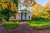 Concert Hall Pavilion in autumn in Catherine park, Pushkin (Tsarskoe Selo), Saint Petersburg, Russia
