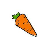 Vector carrot icon