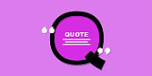Q shape quote icon an illustration