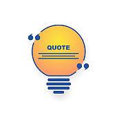 Good idea light bulb quote icon illustration