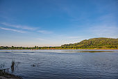 Beautiful Landscape of Mekhong river between thailand and laos from Chiang Khan District.