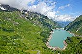 The Mooserboden dam in beautiful austrian alpine nature.