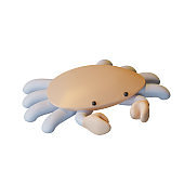 Crab 3D Rendering Illustration, suitable for world oceans day