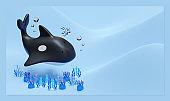 Orca 3D Rendering Illustration