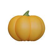 Autumn Pumpkin 3D Rendering Illustration