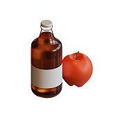 Autumn Apple Cider 3D Rendering Illustration