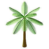 Summer Coconut Tree 3D Rendering Illustration, suitable for summer, tourism, holiday, or vacation event theme.