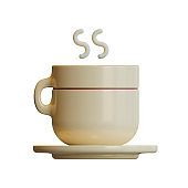 Autumn Hot Drink 3D Rendering Illustration