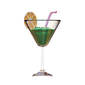 Summer Drink 3D Rendering Illustration, suitable for summer, tourism, holiday, or vacation event theme.