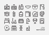 Back To School Color Outline Icon Set