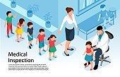Medical Inspection Children Background