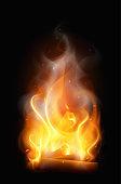 Bonfire Realistic Flame Composition