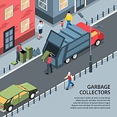 Street Garbage Collectors Background