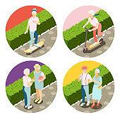 Modern Elderly People 2x2 Design Concept