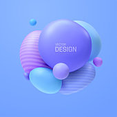 Abstract composition with 3d spheres cluster.