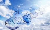 Clocks in sky
