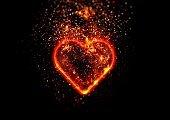 Illustration of an exploding heart