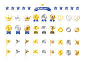 Set of gradient ranking icons