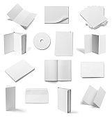 leaflet notebook textbook envelope blank paper template book