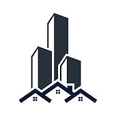 Real estate building icon design template vector isolated