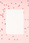 Blank mock up paper greeting