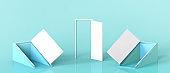 Creative idea Open Door Different simplicity and Concept inspiration Display Design on Green Background.Industry - 3d rendering