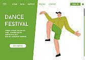 Vector landing page of Dance Festival concept