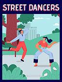 Vector poster of Street Dancers concept