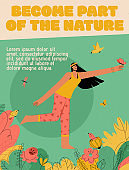 Vector poster of Became Part of the Nature concept