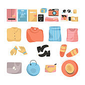 Packaged clothes, shoes and accessories for travel
