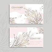 Pink, gold and white vintage business card. Luxury vector ornament template. Great for invitation, flyer, menu, background, wallpaper, decoration, packaging or any desired idea.