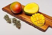Mangos and cannabis buds