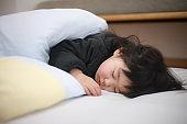 Girl taking a nap