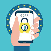 GDPR concept with smart phone