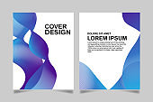 Cover Design Template. blue line Abstract background. Cover templates for catalog, brochure, poster, portfolio