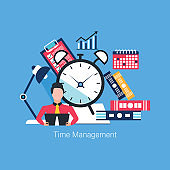 Time management and business planning concept